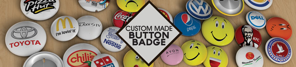 Custom made button badge pricing