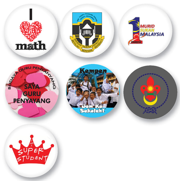 Education theme design button badge