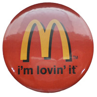 Button badge with full color printing