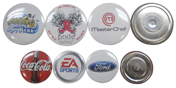 Button badge fridge magnet with full color printing
